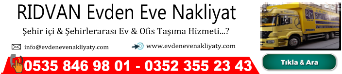 KAYSERİ EVDEN EVE NAKLİYAT ,rıdvan